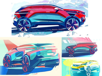 Peugeot 3008 and 5008: design sketches and photos