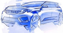 Peugeot 5008 Design Sketch by Sandeep Bhambra