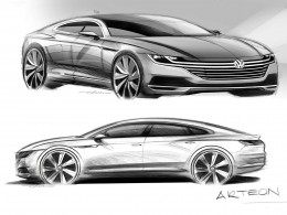Volkswagen Arteon design sketches