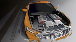 Audi Q8 Sport Concept Engine Design Sketch Render
