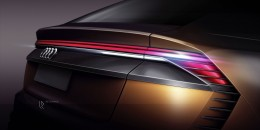 Audi Q8 Sport Concept Tail Light Design Sketch Render