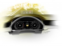 Volkswagen Arteon Interior Design Sketch Render Instrument Panel