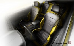 Volkswagen Arteon Interior Design Sketch Render Seats
