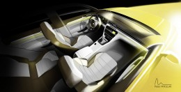 Volkswagen Arteon Interior Design Sketch Render by Peter Mikulak
