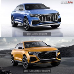 Audi Q8 Concept vs Q8 Sport Concept Design Comparison