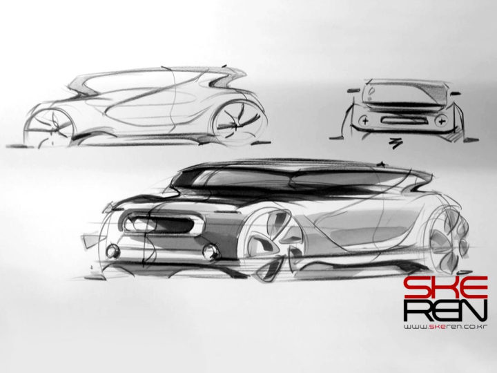 Car Sketch And Marker Technique Demo Car Body Design