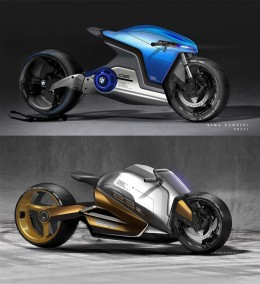 Electric Superbike Concept Design Sketch Render by Nima Farzin