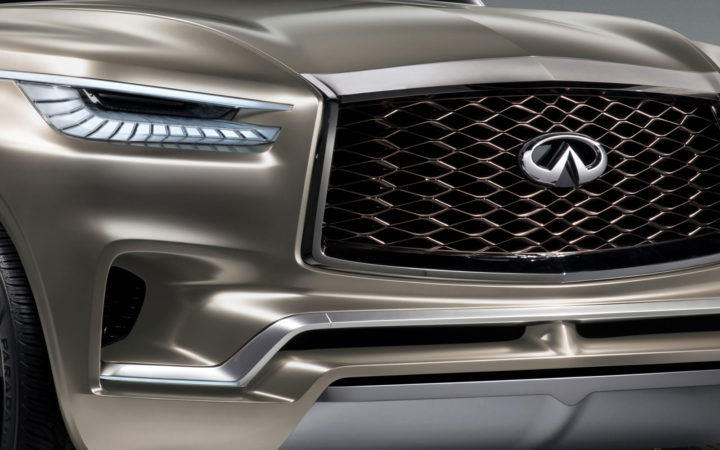 Infiniti QX80 Monograph Concept Headlight and grille
