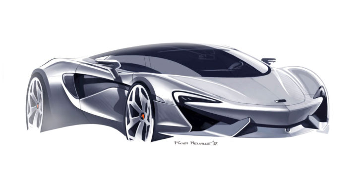McLaren 570S Design Sketch by Rob Melville