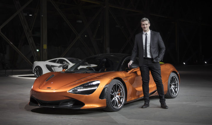 Rob Meville with the McLaren 720S