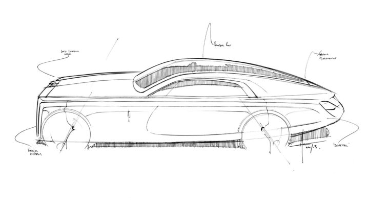 Rolls-Royce Sweptail Design Sketch