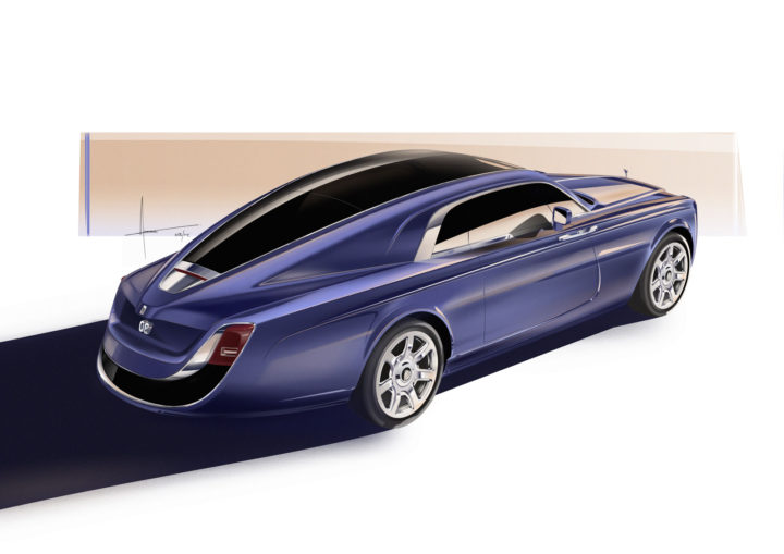 Rolls-Royce Sweptail Design Sketch Render
