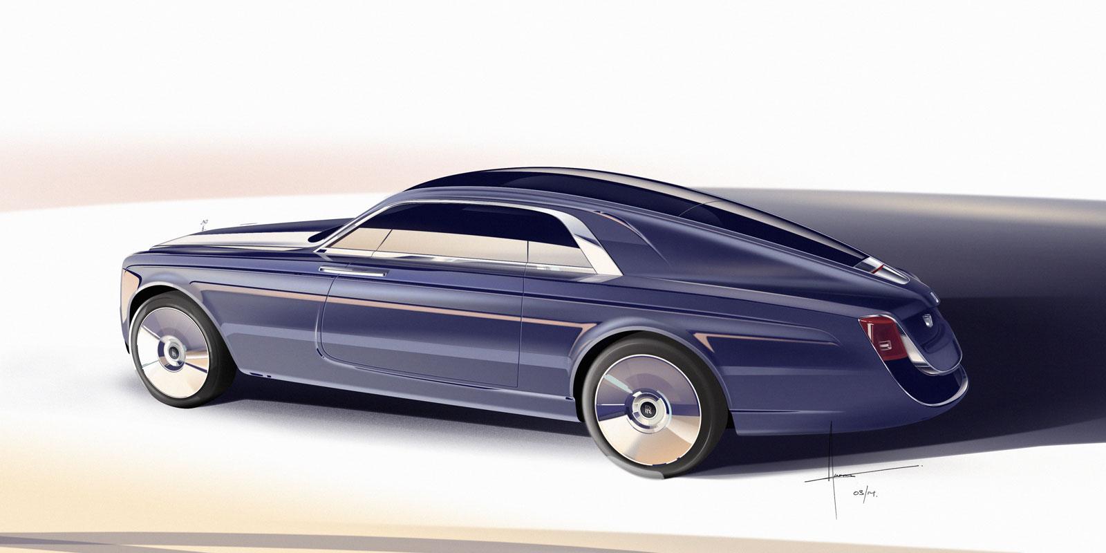 Rolls Royce Sweptail Design Sketch Render Car Body Design
