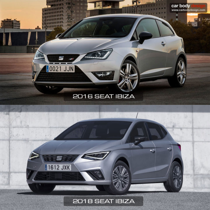2016 vs 2017 Seat Ibiza Design Comparison