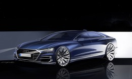 Audi A8 Design Sketch Render