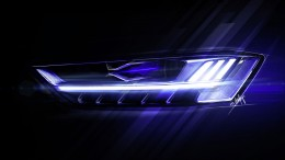Audi A8 Headlight Design Sketch Render
