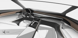 Audi A8 Interior Design Sketch Render