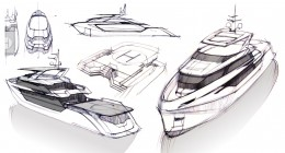 Greywolf Yacht Concept Design Sketches