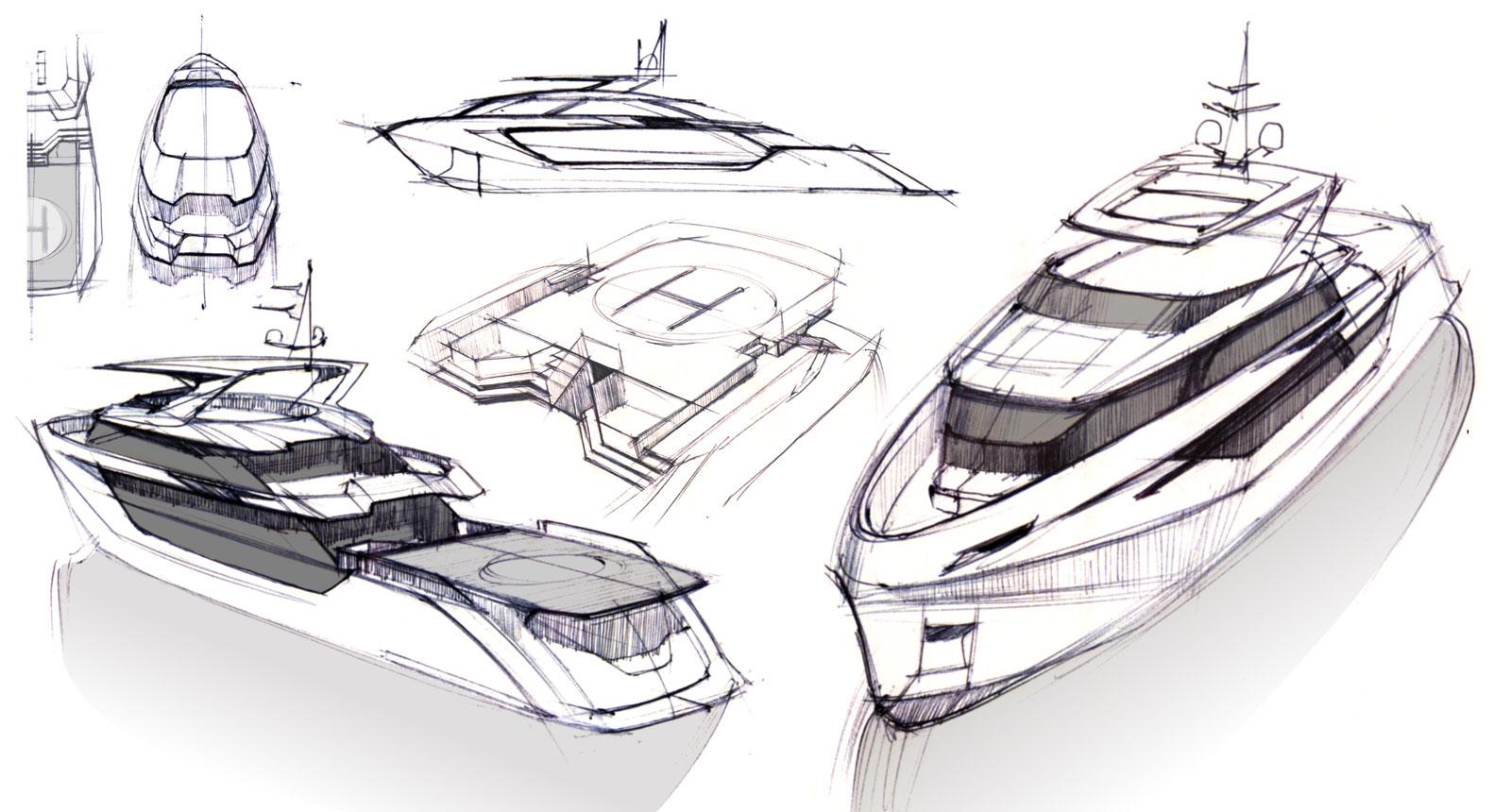 Art Line Yacht Design : Greywolf meter explorer yacht by politecnico di milano
