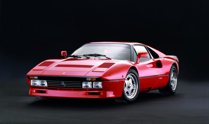 The Ferrari GTO model that was presented at the Geneva Motor Show in