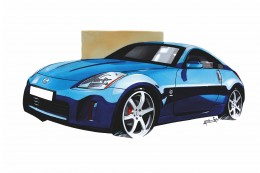 How to illustrate and design Concept Cars Design Sketch Render