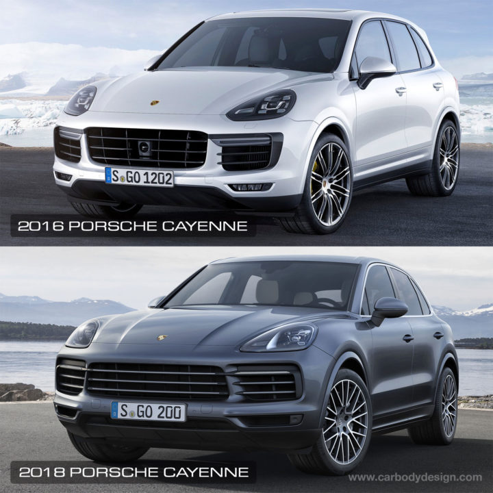 2016 vs 2018 Porsche Cayenne Design Comparison
