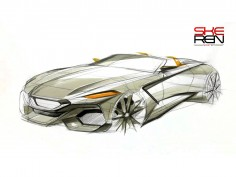 BMW Z4 Concept sketching demo