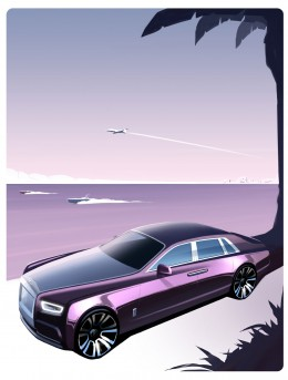 Rolls-Royce Phantom VIII Design Render Illustration