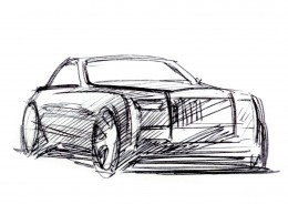 Rolls-Royce Phantom VIII Design Sketch