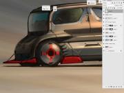 Quick color/value block-in Photoshop render demo