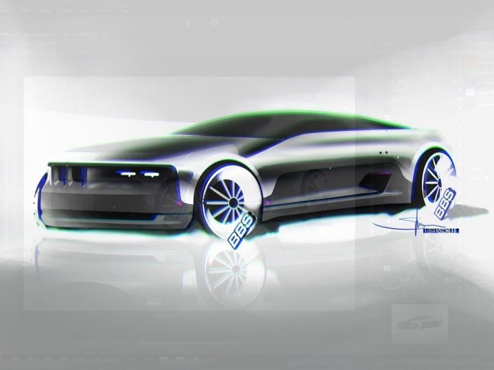 BMW Concept car rendering in Affinity Photo