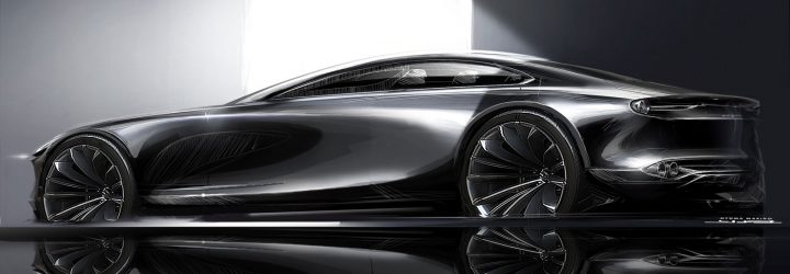 Mazda Vision Coupe Concept Design Sketch Render