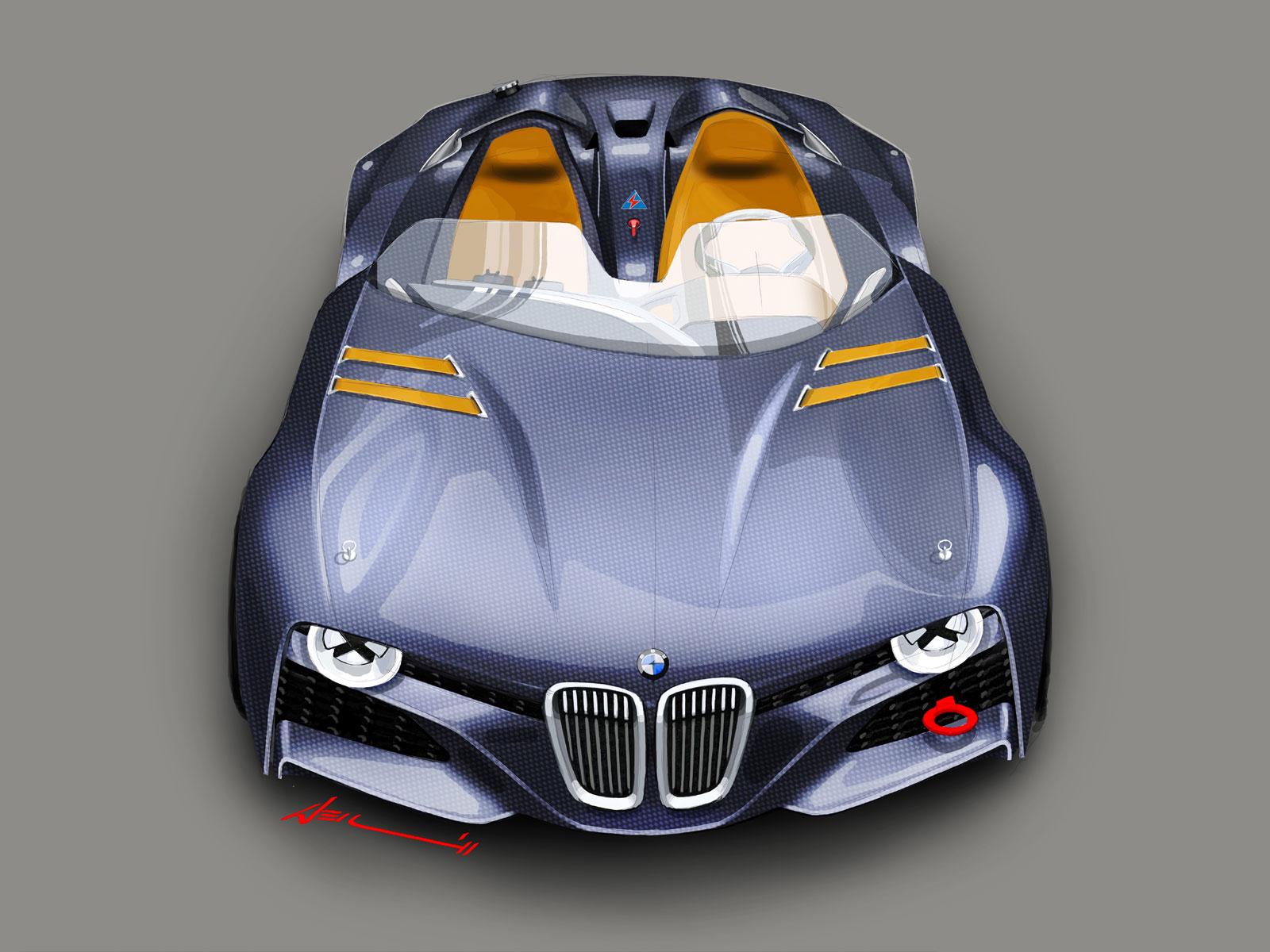 2011 BMW 328 Hommage Concept Design Sketch Render by Christopher ...