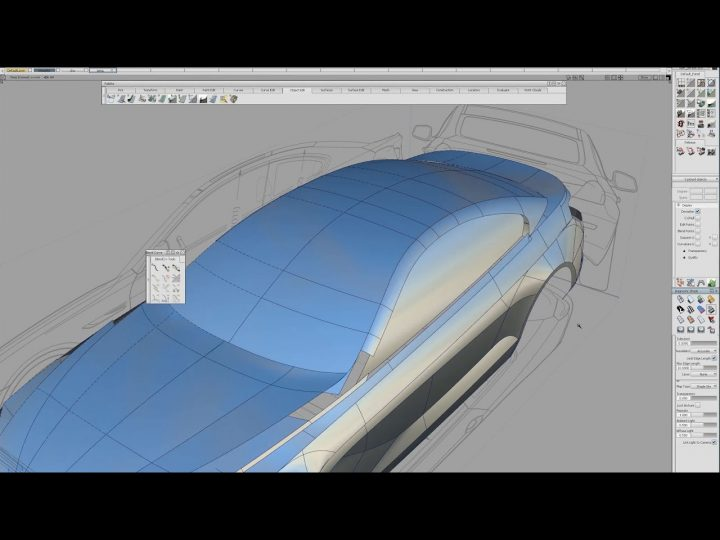 BMW 3D modeling Autodesk Alias tutorial update