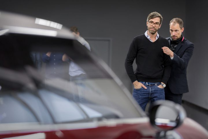 Christopher Weil and Anders Warming discussing the design of the MINI Clubman