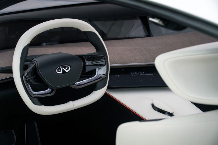 Infiniti Q Inspiration Concept Interior Detail Steering Wheel