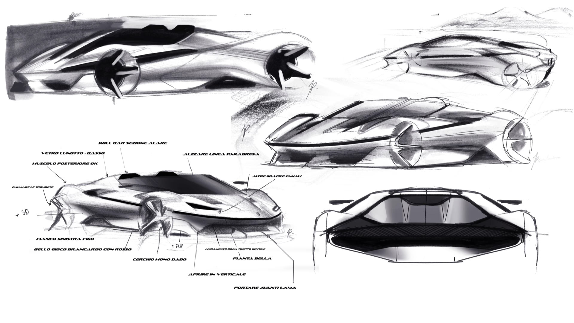 Ferrari Concept Design Sketch by Vadim Artemiev - Car Body ... |Ferrari Design Sketches