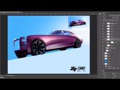 Replicating a car design sketch render in Photoshop