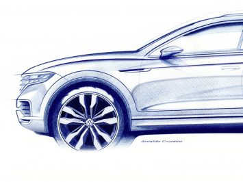 Volkswagen previews all-new Touareg design