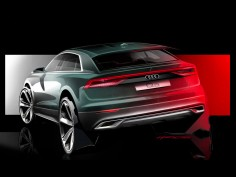 Audi Q8 teased with a sketch and a mini-series