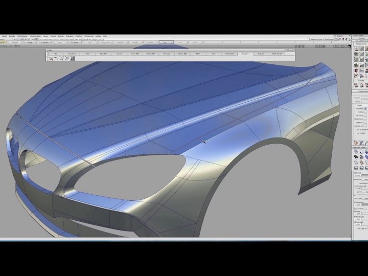 BMW 3D modeling in Autodesk Alias: Tutorial Completed
