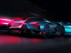 DS X E-Tense Concept is an asymmetrical dream car for the year 2035