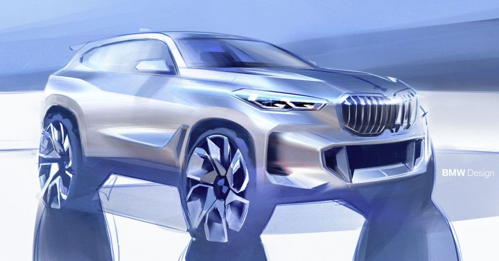 New BMW X5 Design Sketch Render