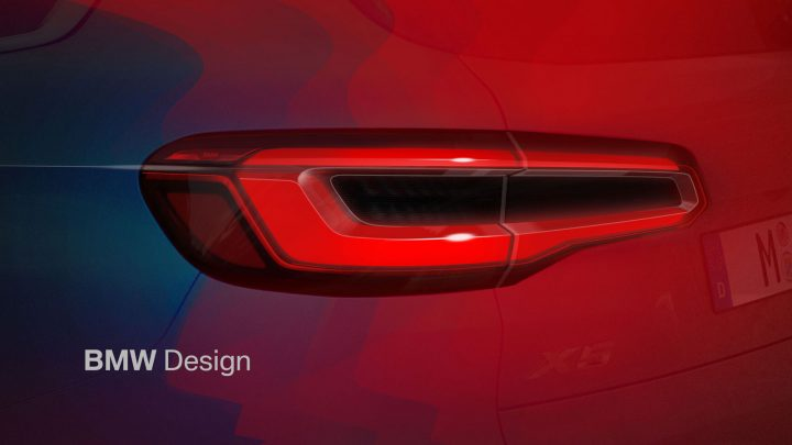 New BMW X5 Tail Light Design Sketch Render