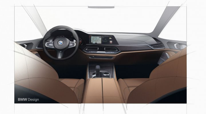 New BMW X5 Interior Design Sketch Render