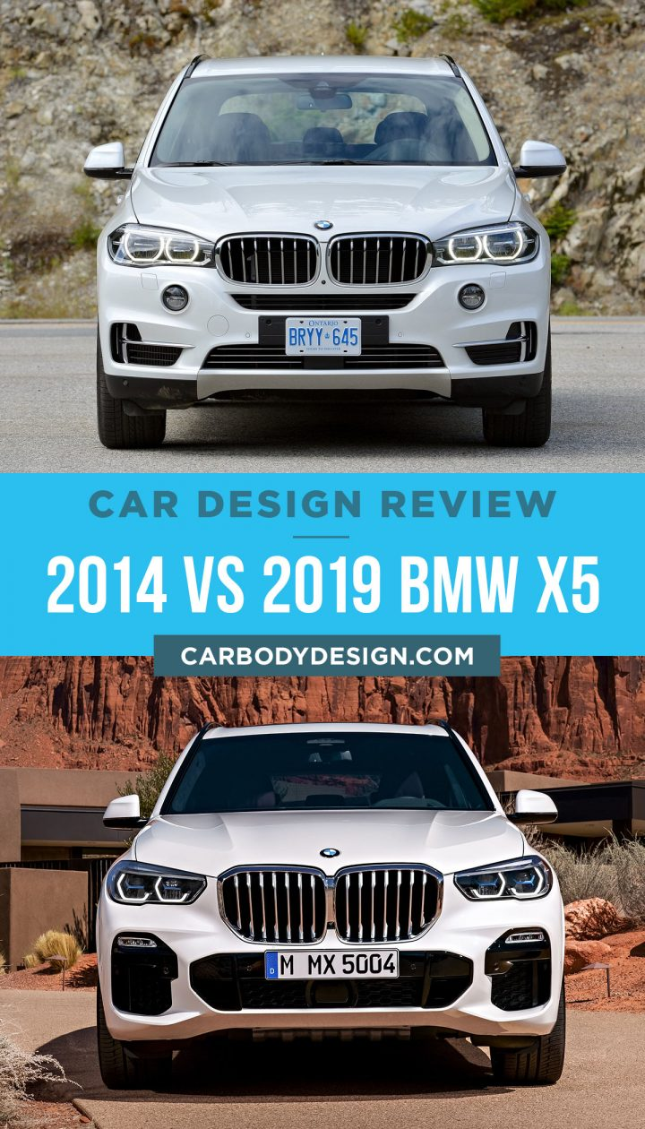 2014 vs 2019 BMW X5 Front View Design