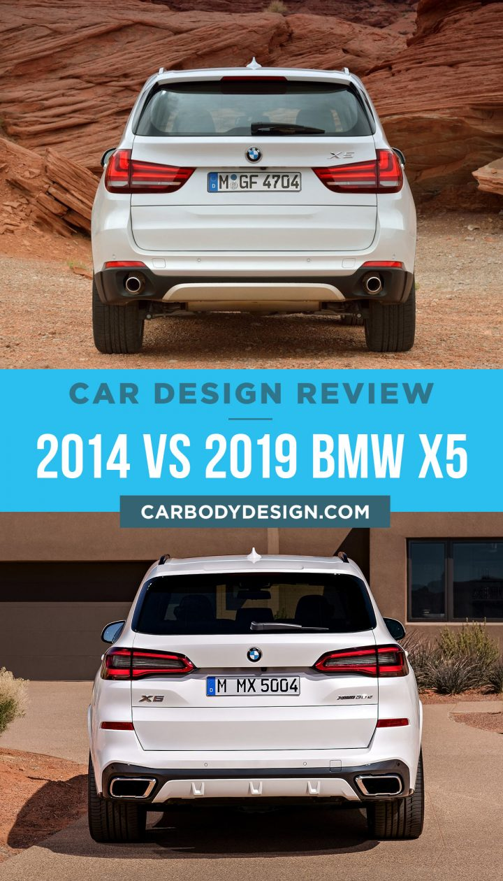 2014 vs 2019 BMW X5 Rear View Design