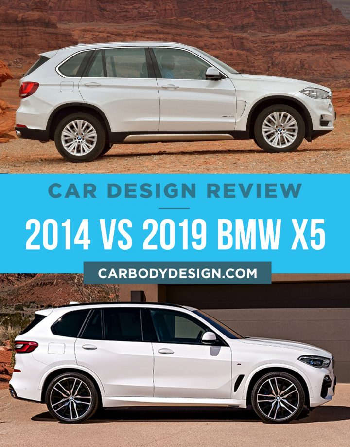2014 vs 2019 BMW X5 Side View Design