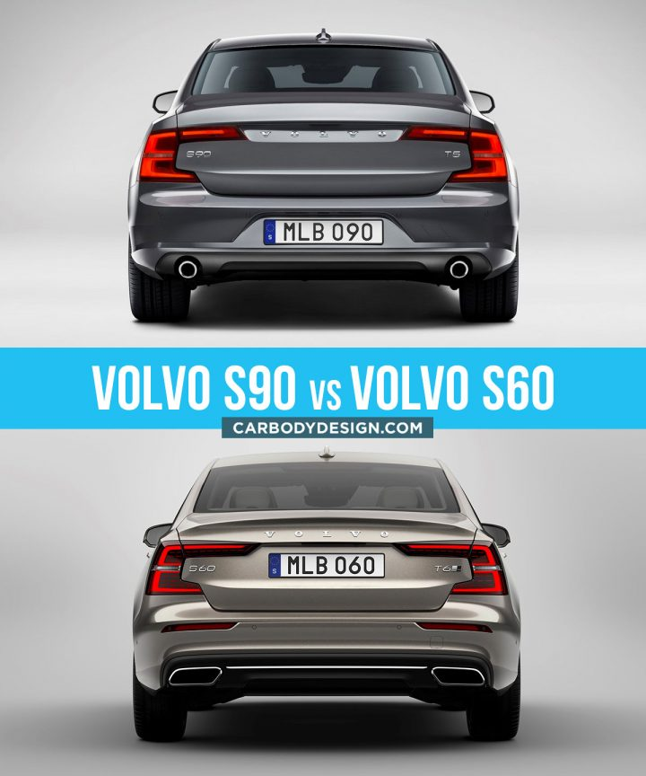 Volvo S90 vs Volvo S60 Design Comparison