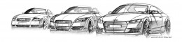 1998 2006 2014 Audi TT Design Sketches